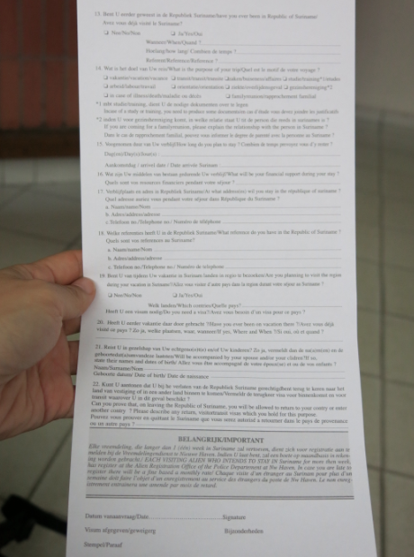 How To Get A Suriname Visa In Cayenne French Guyana