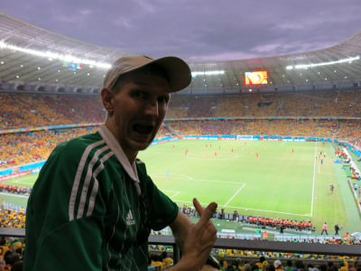 Watching Brazil v. Mexico in the Castelao!