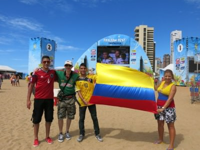 Enjoying the Fan Fest in Fortaleza, but when the World Cup is over there is still plenty of partying going on!