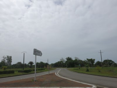 So we had to drive all the way back to Kourou...