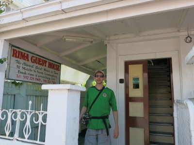 Outside Rima Guesthouse in Georgetown Guyana