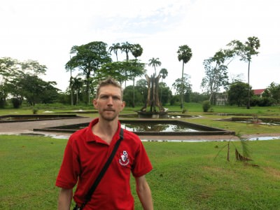 At Botanical Gardens at the 7 ponds and the mausoleum of the first President of Guyana.