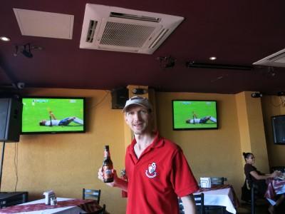 Palm Court pub for France v. Nigeria.
