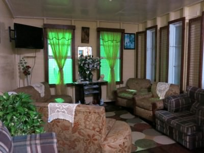 The cosy lounge at Rima Guesthouse in Georgetown Guyana