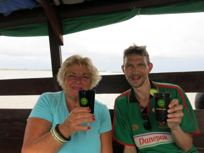 With Maud from Netherlands and our Surprinha Cocktails!