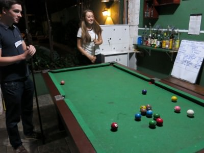 A pool competition in Hostel Green House.