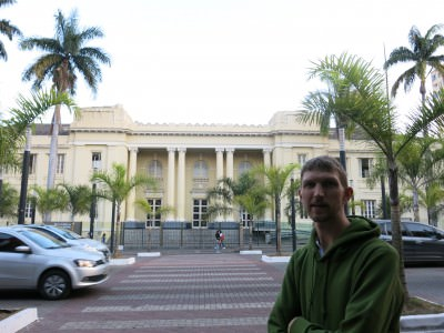 Outside the Minas Conference Centre in Belo Horizonte.