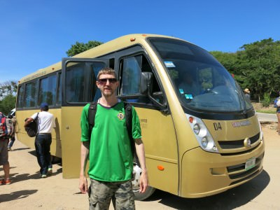 Our bus to Monte Alban, Mexico
