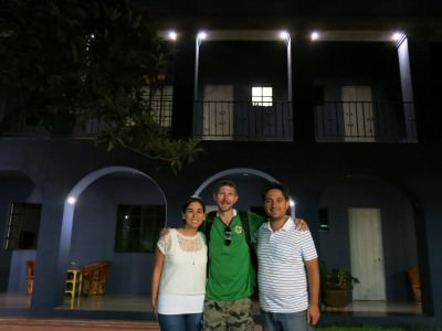 With Pia and Carlos - cool owners of La Betulia.