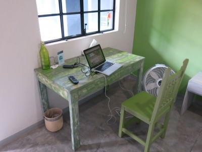 The blogging desk!