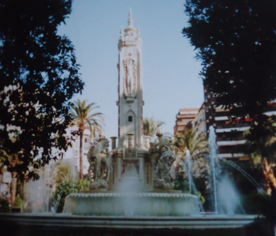 A fountain in downtown Valencia.
