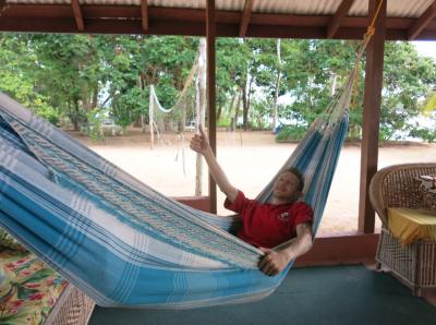 sloth island relax guyana