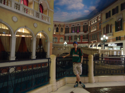Inside the Venetian in Macau.