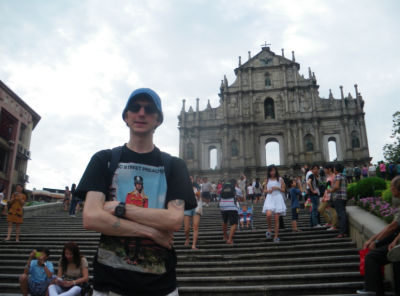 At St. Paul's Ruins in Macau.