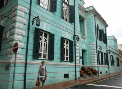 Backpacking through Taipa in Macau.