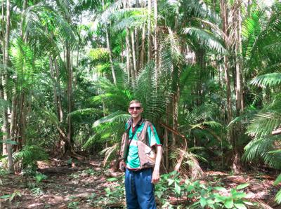 Arrival in the jungle at Concordia Plantation.