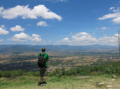 View of countryside from Monte Alban.