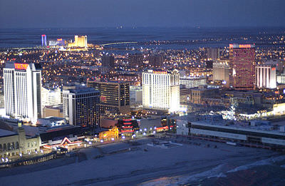 Atlantic City, USA by night.