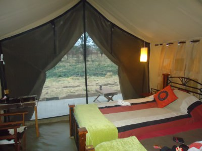 My luxury room in the Serengeti