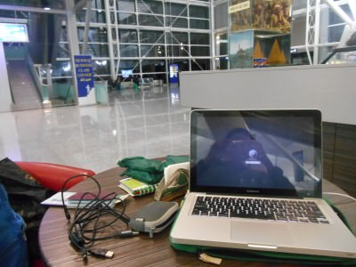 Working in Erbil Airport in Iraq.