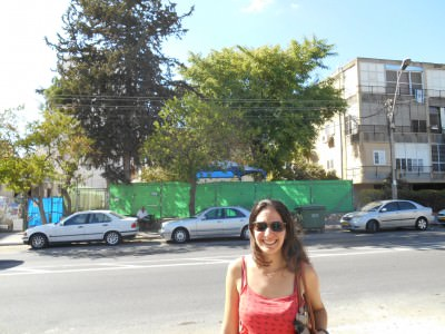 Backpacking Buddies: Haya Harpaz in Afula, Israel.