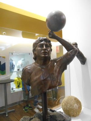 Maradona hand of God statue.
