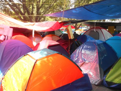 Squatters in tents at Zocalo, Oaxaca de Juarez.