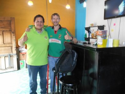 With Juan the owner of Nachos Beer.