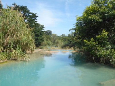 Tropical turquoise waters at Agua Azul.