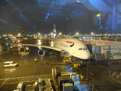 My massive double decker British AIrways flight in 2014