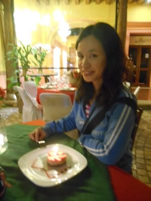 Panny and her birthday cake.