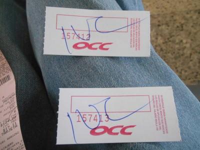 Bag tags for OCC.