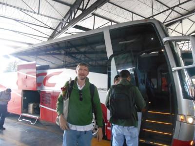 About to board our bus at San Cristobal de las Casas.