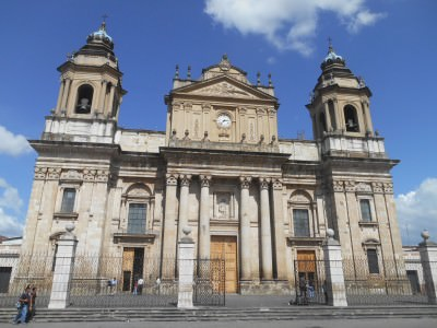 Main Cathedral in Guatemala City - Parque Central.