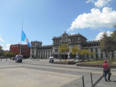The Palace and Guatemala flag at Parque Central