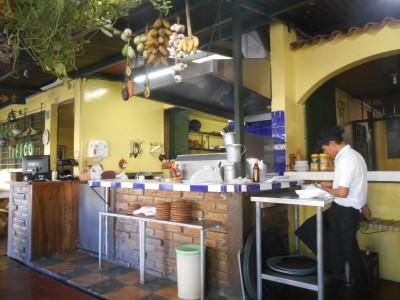 The kitchen at Sopon Tipico.