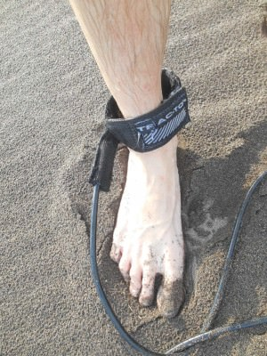 Basics - rope attached to my right foot.