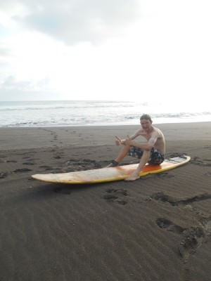 First ever surfing lesson - $10 US.