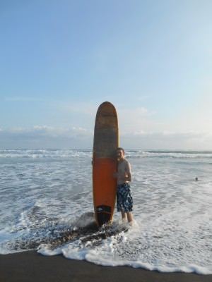 First time ever to go surfing!