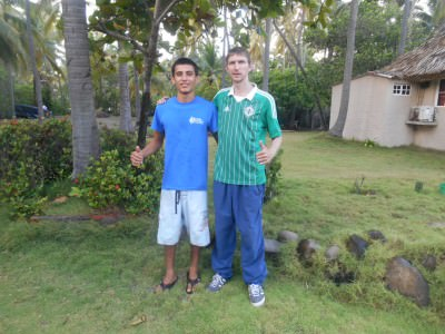 With Raphael at Capricho Beach House