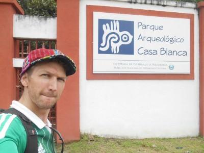 Arrival at Parque Arqueologico Casa Blanca.