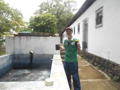 With the indigo on my tour - great time in Casa Blanca, Chalchuapa, El Salvador