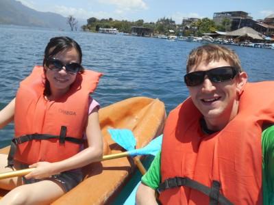 Kayaking on Lago Atitlan.