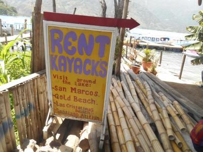 Kayaking in San Pedro La Laguna should cost you 15 Quetzals.