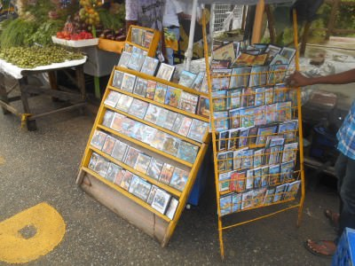 Markets in Parika - CDs/DVDs.