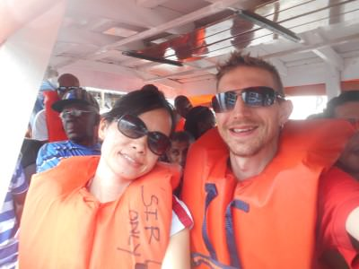 On the boat to Bartica, Guyana.