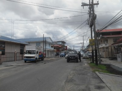 Backpacking in Guyana: the town of Bartica.