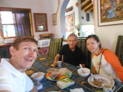 Panny, Richard and I at breakfast.