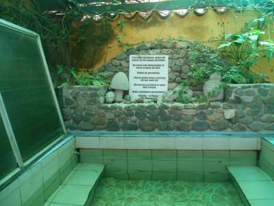 Natural hot tub in Posada Los Encuentros.