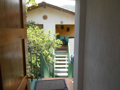 View from our door in Posada Los Encuentros in Panajachel.